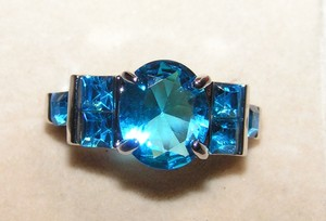 Multi Colored Bogo Free Remarkable Light Blue Zircon Fashion Free Shipping Ring