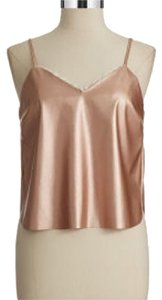 Love Ady Faux Leather Top Rose