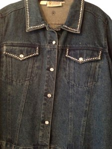 Christine Alexander Studded Button Down Shirt Denim