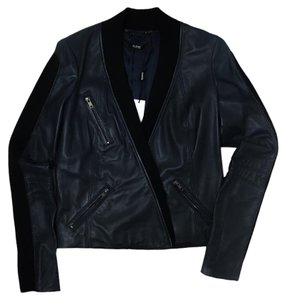 Cut25 Oxford Navy Leather Jacket