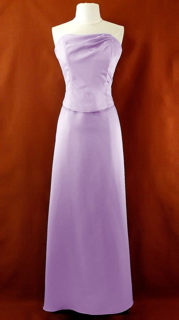 Item - Lavender Satin 6478 Casual Bridesmaid/Mob Dress Size 10 (M)