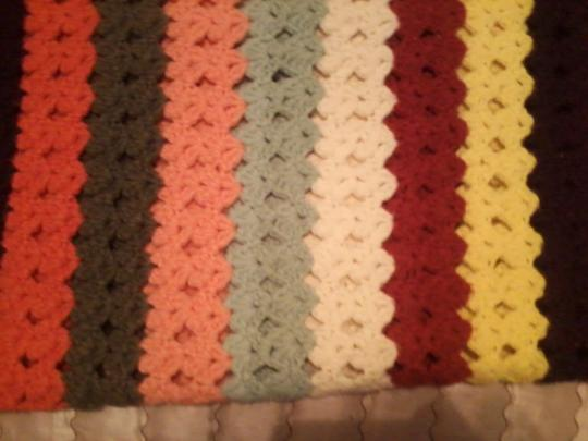 Other HANDMADE CROCHET THROW - Beautiful Fall Colors! Vintage