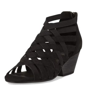 Eileen Fisher Strappy Soft Leather Black Sandals