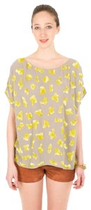 SUNO Beaded Top Citron/Taupe