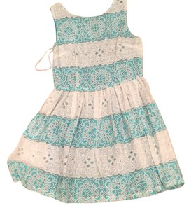 Other short dress Teal and white on Tradesy