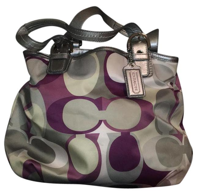 Item - D1194-f17407 Purple/ Silver Satin Satchel