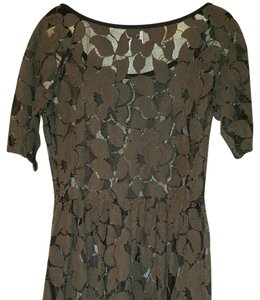 Anthropologie short dress Brown lace on Tradesy