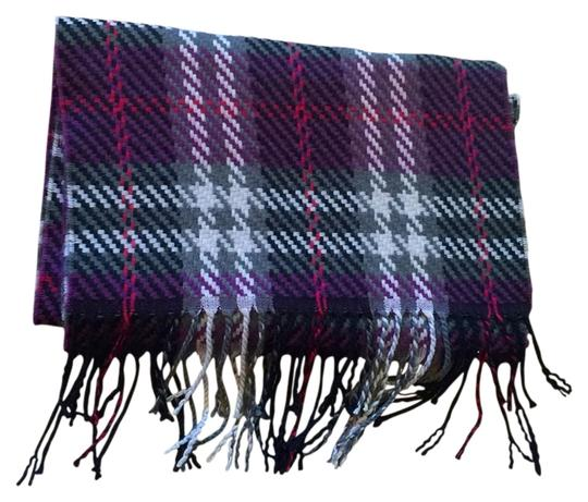 German Hand Tailored Herringbone Purple Cashmere Scarf