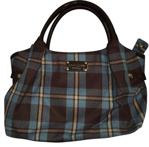 Kate Spade Tote in blue/ plaid