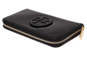 Tory Burch NEW TORY BURCH STACKED PATENT CONTINENTAL ZIP WALLET