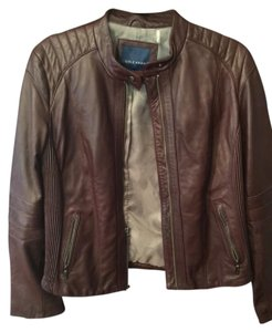 Cole Haan Burgandy Leather Jacket