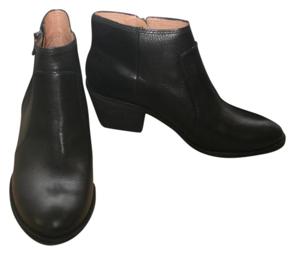 77f12053f6e5 Madewell True Black Janice In Leather 5m Boots Booties Size US 8.5 ...
