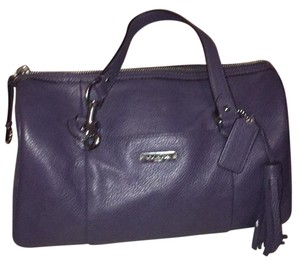 Coach Satchel in Grey/Blue