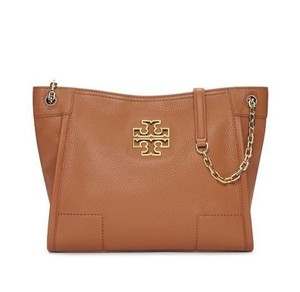 Tory Burch Leather Tote in bark