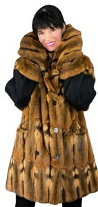 Saga Furs Fur Fox Fur Hoody Fox Jacket Blue Fox Fur Fur Coat