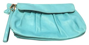 Just Cavalli Leather Evening Clutch Cavalli Wristlet in Blue