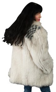Saga Furs Fur Fox Fur Fur Coat