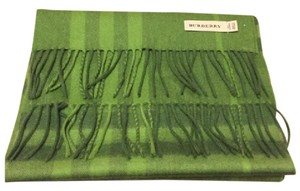 Burberry Burberry Cashmere Wool Plaid Scarf Green