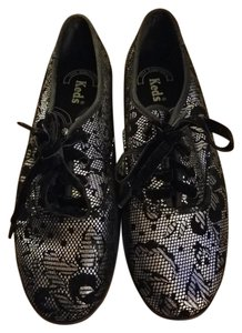 Keds Velvet Sneaker Flat Black Athletic