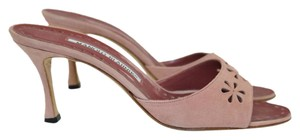 Manolo Blahnik Flowers Summer Pink Nude Sandals