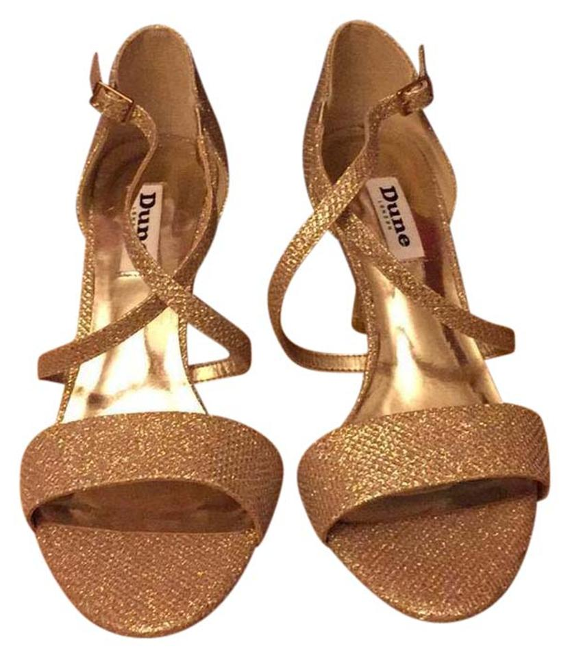 18582893522f Dune London Gold Mindee Sandals Size US 7 Regular (M