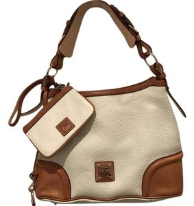 Dooney & Bourke Pebbled Leather Wristlet Hobo Bag