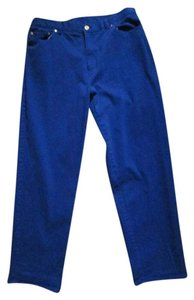 Lauren Ralph Lauren Denim Spring Casual Straight Pants Blue