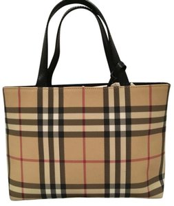 Burberry Plaid Vintage Tote in House Check