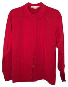 Geoffrey Beene Peter Pan Collar Top Red