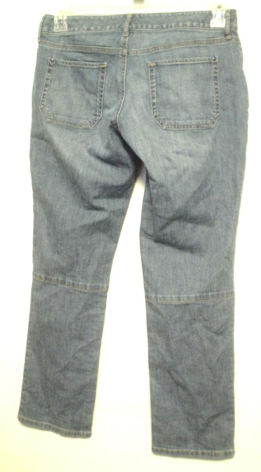 df6b9cb4af Eddie Bauer Blue Medium Wash Slim Leg Modern Fit 6 Petite 6p Skinny ...