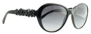 Chanel Chanel Sunglasses 5318-Q Gray Acetate Floral Leather Gradient