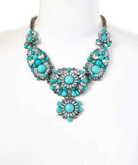 Unknown Turquoise Cluster Necklace