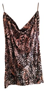 H&M Pattern Tube Banded Hem Top Multicolored