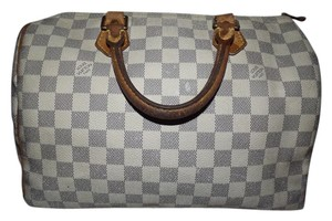Louis Vuitton Satchel in Gray & white Damier Azur