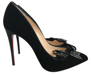 Christian Louboutin Velvet Black Pumps