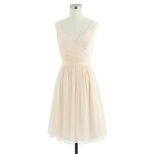 J.Crew Champagne Heidi Dress In Silk Chiffon Dress