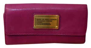 Marc by Marc Jacobs Marc by Marc Jacobs Dark Pink Classic Q Long Trifold Wallet