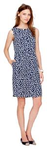 J.Crew short dress Blue, White on Tradesy