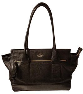 Kate Spade Southport Ave Oden Satchel Tote in Black
