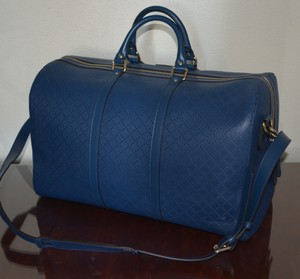 Gucci Leather Duffle Diamante Luggage Travel Bag