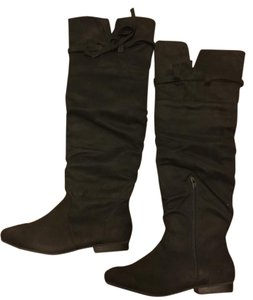JustFab Riding Knee High Black Boots