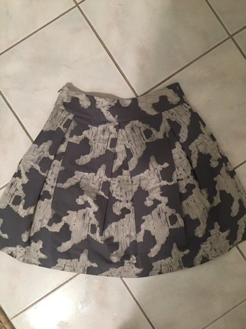 Kate Spade A-line A-line Party Skirt Grey Print Image 1