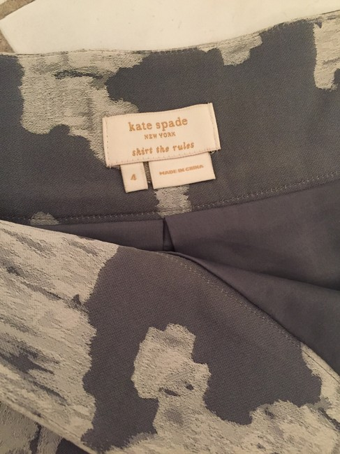 Kate Spade A-line A-line Party Skirt Grey Print Image 3