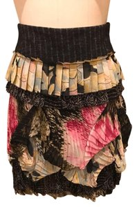 Diane von Furstenberg Mini Skirt Black Pink