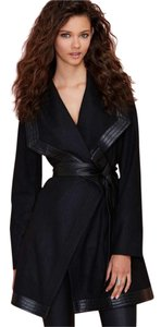 Nasty Gal Wrap Flattering Leather Wool Chic Coat