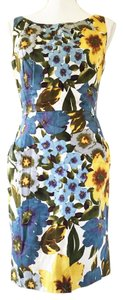 Nine West short dress Floral Sleeveless Blue on Tradesy