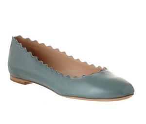 Chloé Leather Italy Ballet Blue Flats
