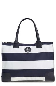 Tory Burch Navy Pack Tote in Blue and White