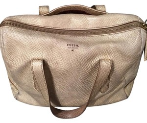 Fossil Satchel in gold