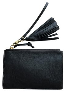 Fossil Fossil Black Leather Wristlet